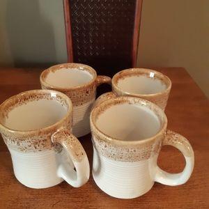 Set of 4 Northcraft Korea mugs